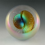 Cat's Eye Nebula paperweight from Glass Eye Studio