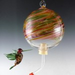 Hummingbird feeder from Glass Eye Studio - Hummingbird ornament by Mazet Studio