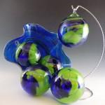 """Sunday Afternoon"" ornament $23 - Floppy Bowl $86 by Glass Eye Studio"