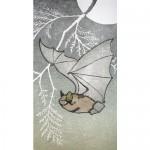 """""""Shadow"""" woodblock print with 22k gold leaf by Krisen Etmund $150"""