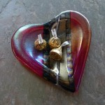 Fused glass heart dish by Chris Paulson - $32