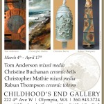 March show features mixed media work from Tom Anderson & Christopher Mathie and ceramics by Christine Buchanan & Rabun Thompson.