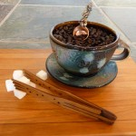 Cappuccino cup by Craig Martell, coffee scoop from Lisa Schallert & mini tongs from Moonspoon.