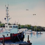 Tugboat print by Beverly Fotheringham - $25