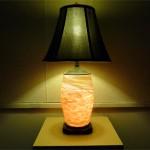 Handblown glass lamp from Tom Stoenner.