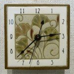 Gingko clock from All Fired Up - $38