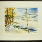 """Snowy Sunday"" watercolor by Bill McEnroe"