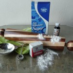 Wooden rolling pin created by Bob Espen , measuring cup & spoon from Crosby & Taylor.