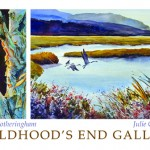 Watercolors from Julie Creighton & Beverly Fotheringham are featured in June's exhibit.