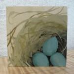 Robin's nest painting by Kristen Etmund.