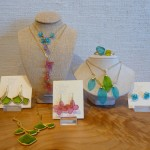 New botanical cast glass & bronze jewelry from Michael Vincent Muchaud.