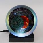 """Solar Eclipse"" handblown glass paperweight from Glass Eye Studio."