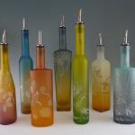 Glass dispenser bottles from Mary Melinda Wellsandt.