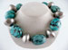 Dannielle Carbone Nickel, Chunky Turquoise, with Tuareg Beads Necklace
