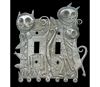 Link to Cat Family Double Switchplate by Leandra Drumm