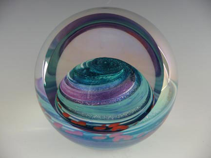 Glass Eye paperweight 369
