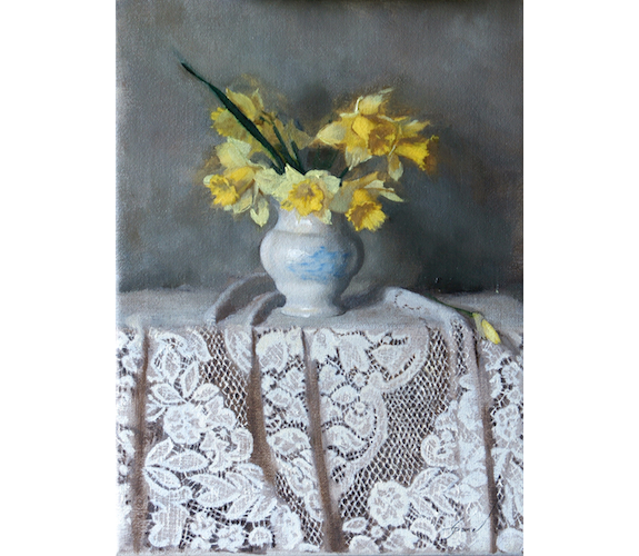 """Daffodils"" Oil on Linen by Carla Paine"