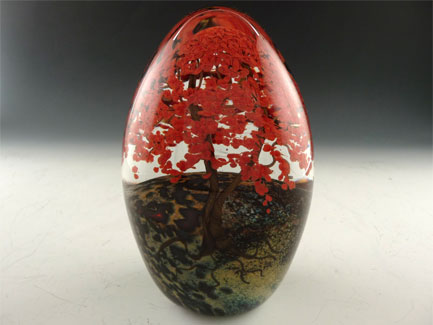 "Fall Trees Paperweight 5"" H"