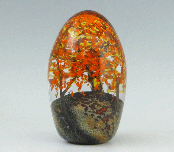 Cathy Richardson - Blown Glass Fall Trees