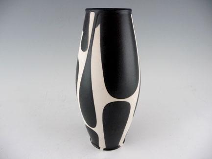Childhoods End Gallery Sam Scott Black And White Porcelain Tall Vase