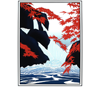 Link to Waterfall with Red Maples print by Aki Sogabe