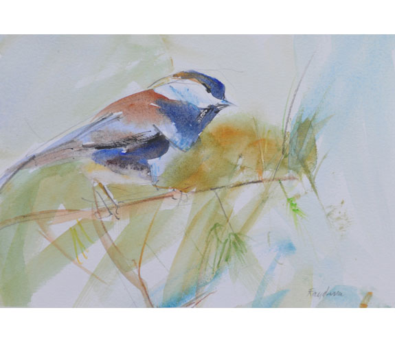 "Randena Walsh ""Chestnut-backed Chickadee"""