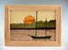 MarqArt Wood Box with Sailboat in the Harbor Design