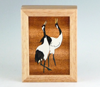 "MarqArt - Marquetry Wood Box with Horse Design. 8"" x 6"""